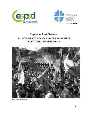 El movimiento social contra el fraude electoral en Honduras