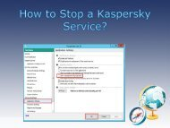 How to Stop a Kaspersky Service