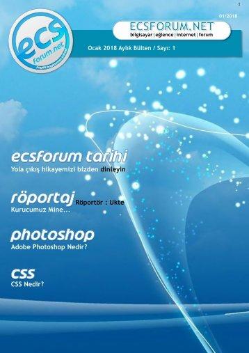 ECSForum Ocak 2018 Bülten