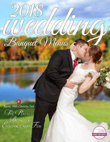 RHCC Wedding Banquet Menu 2018