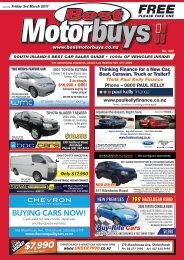 Best Motorbuys: March 05, 2017