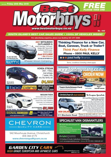 Best Motorbuys: May 20, 2016