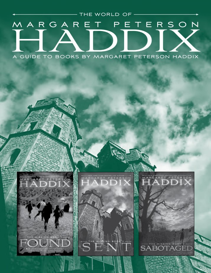 found margaret p haddix Margaret peterson haddix is the author of many critically and popularly acclaimed teen the twins found themselves on a mission to discover how to prevent humanity.