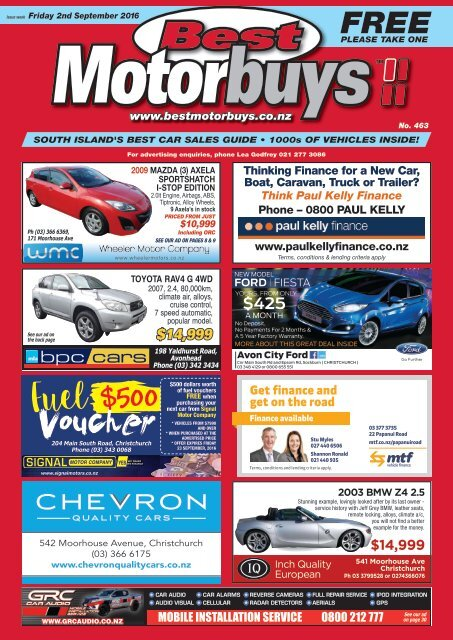 Best Motorbuys: September 02, 2016