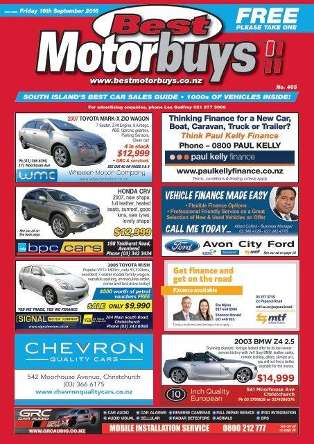Best Motorbuys: September 16, 2016