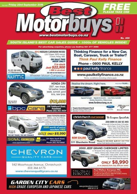 Best Motorbuys: September 23, 2016