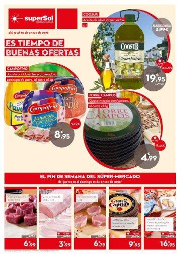superSol supermercados ofertas del 17 al 30 de enero 2018