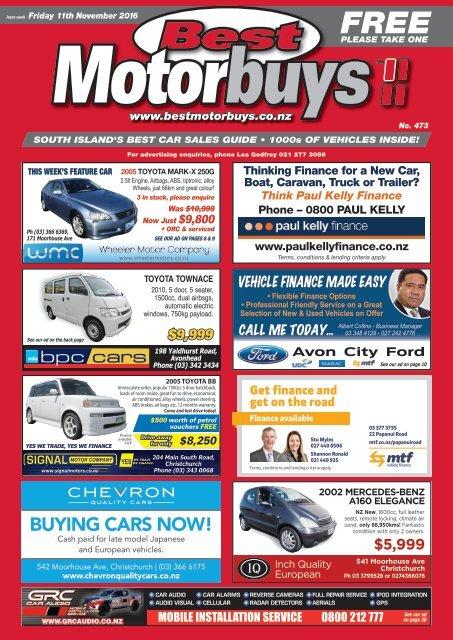 Best Motorbuys: November 11, 2016