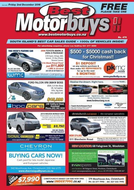 Best Motorbuys: December 02, 2016