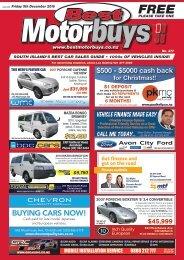 Best Motorbuys: December 09, 2016