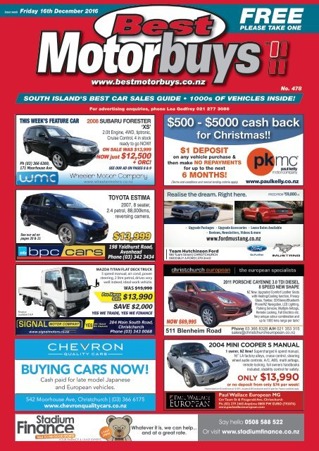 Best Motorbuys: December 16, 2016