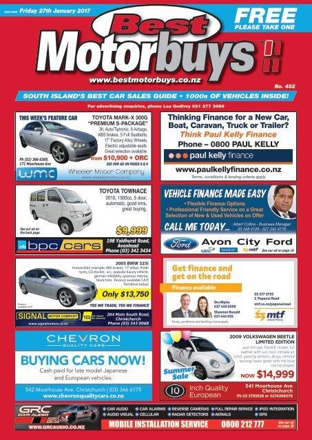 Best Motorbuys: January 27, 2017