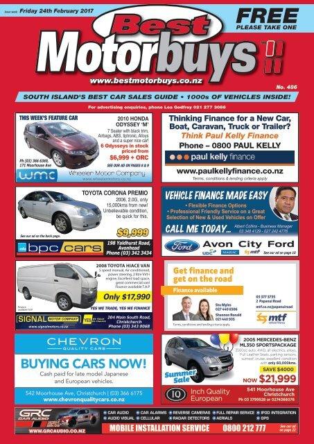 Best Motorbuys: February 24, 2017