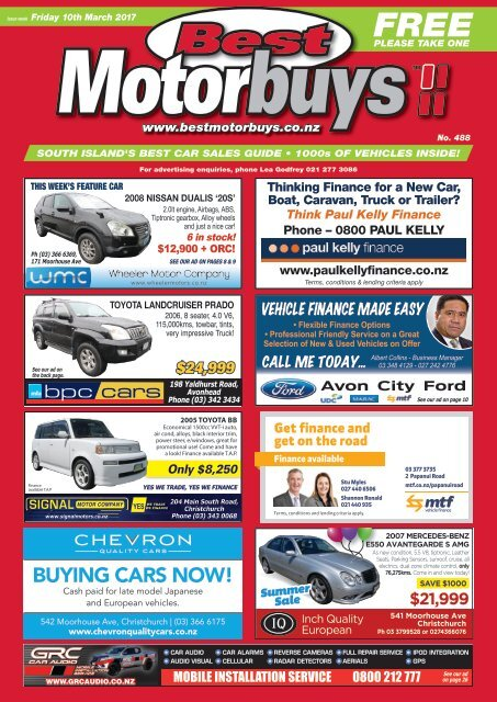 Best Motorbuys: March 10, 2017