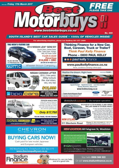 Best Motorbuys: March 17, 2017