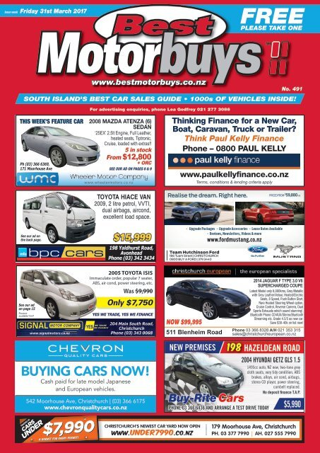 Best Motorbuys: March 31, 2017