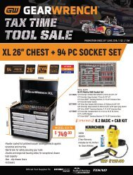 Gearwrench Q2 Tax Time Tool Sale
