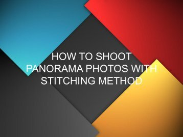 How to do Panorama Photography