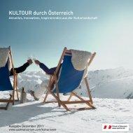 KULTOUR durch Österreich: Ausgabe Dezember 2011
