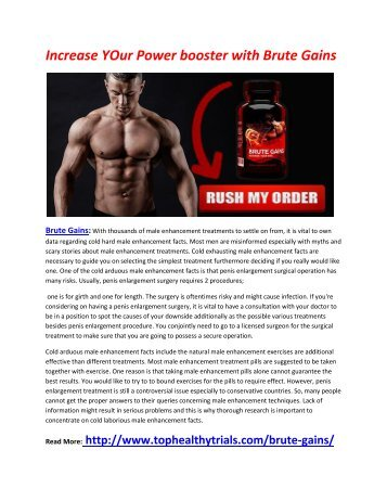 Increase YOur Power booster with Brute Gains