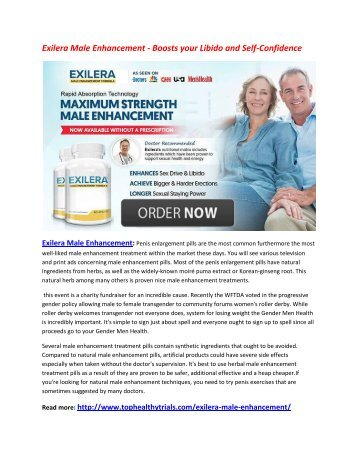 Enhance Your Liveliness Level with Exilera Male Enhancement