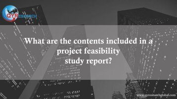 What are the contents included in a project feasibility study report?