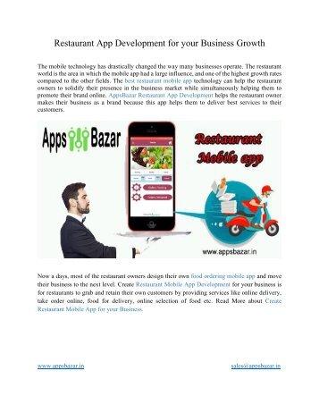 Restaurant App Development for your Business Growth