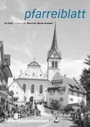Veranstaltungskalender der Pfarrei Hochdorf 2. Halbjahr 2011