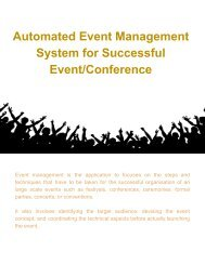 Automated Event Management System for Successful Event_Conference(1)