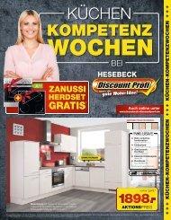 Küchen Kompetenz Wochen - Hesebeck Discountprofi