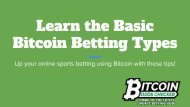 Learn the Basic Bitcoin Betting Types