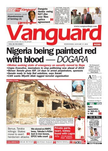 17012018 - Nigeria being painted red with blood — DOGARA