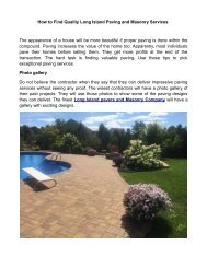 How to Find Quality Long Island Paving and Masonry Services