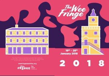 Wee Fringe 2018 - Programme of Events
