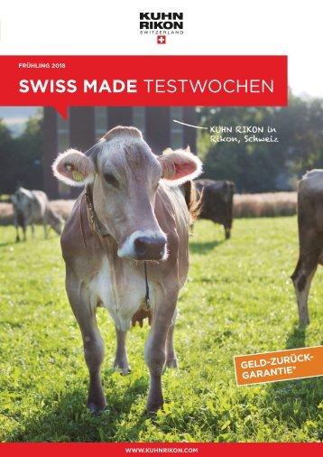0101 Kuhn Rikon 2018 FRÜHLING SWISS MADE TESTWOCHEN-Flyer