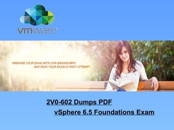 2018 Dumps4Download VMware 2V0-602 Dumps And Exam Questions