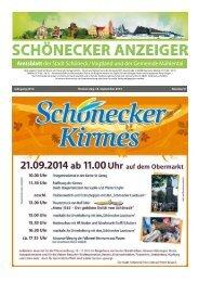 Schönecker Anzeiger September 2014