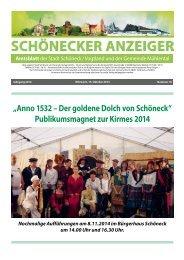Schönecker Anzeiger Oktober 2014