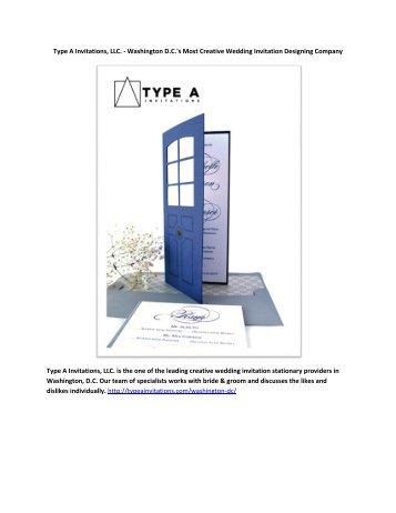 Type A Invitations, LLC. - Washington D.C.'s Most Creative Wedding Invitation Designing Company
