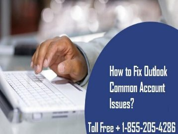 Fix Outlook Common Account Issues 18552054286
