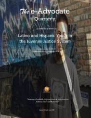 Latino and Hispanic Youth in the Juvenile Justice System
