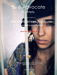 Native American Youth In The Juvenile Justice System