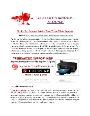 Get Perfect Support Service from Trend Micro Support