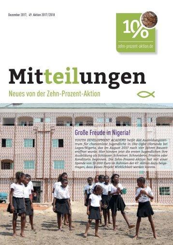 Mitteilungen, Dezember 2017