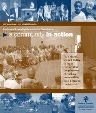 a community in action - Leelanau Township Community Foundation