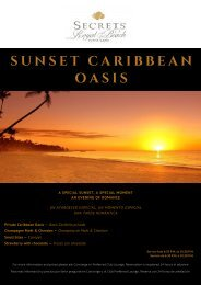 Sunset in Caribbean oasis