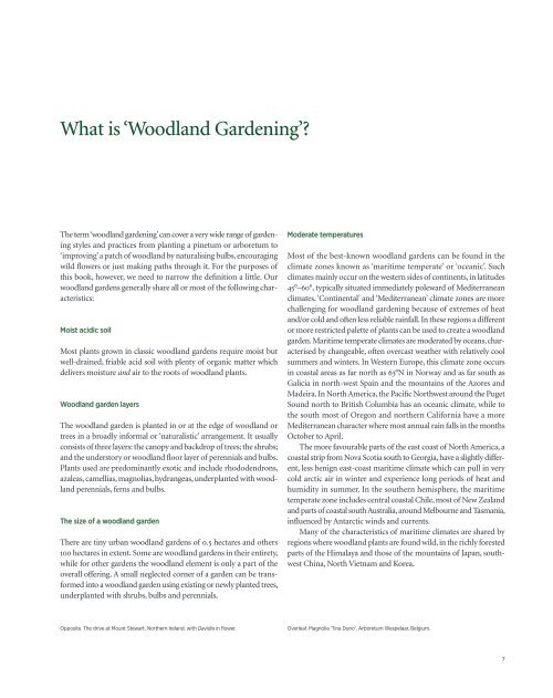 Woodland Gardening by Kenneth Cox sample chapters pps 7-42