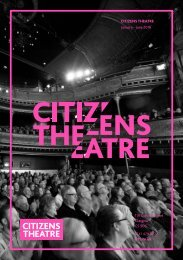 Citizens Theatre Spring 2018 Season Brochure