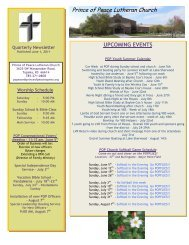 June 2011 Newsletter - Prince of Peace Lutheran Church