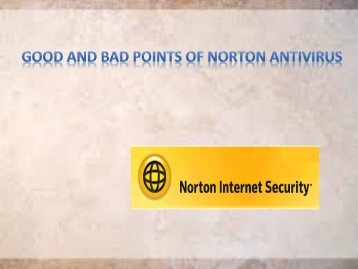 Good and Bad points of Norton Antivirus